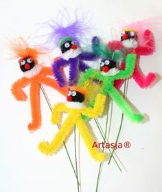Voor met de klas. Diy And Crafts, Crafts For Kids, Arts And Crafts, Diy Art Projects, Projects To Try, 4 Kids, Art For Kids, Pipe Cleaner Animals, Pipe Cleaner Crafts