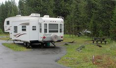 Bridge Bay Campground site, Yellowstone National Park, Wyoming (pinned by haw-creek.com)