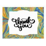 Abstract Pebbles Thank You Postcard