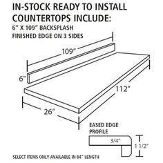 Ready to Install Calacatta Classique Quartz Prefab Slab Includes Backsplash - 112 x 26 - 100427699 | Floor and Decor