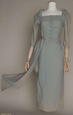 Augusta Auctions, March 21, 2012 NYC, Lot 255: Jean Desses Cocktail Dress, Late 1940s
