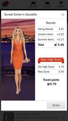 Covet Fashion Jet Set High Score