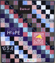 Large quilt made in memory of a mom who passed away using her favorite