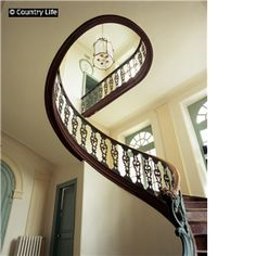 Chateau de Barly. What a great staircase.