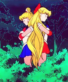 Sailormoon R. Episode 52: Targeted Kindergarten Kids! Venus' Great Performance. Sailor Moon and Sailor Venus.