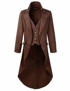 DarcChic Mens Gothic Tailcoat Jacket Black Steampunk VTG Victorian Coat (S, Purple) - Explore the World of Steampunk Victorian Coat, Gothic Coat, Steampunk Coat, Steampunk Costume, Gothic Fashion, Mens Fashion, Fashion Outfits, Fashion Clothes, Style Fashion