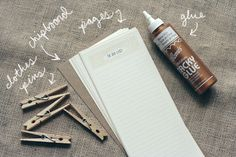 """DIY """"To Do List"""" Notepad - Whit & Whistle"""