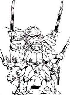 teenage mutant ninja turtles gang loved pizza coloring page free printable coloring pages for