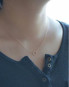 Small Hammered Circle Necklace