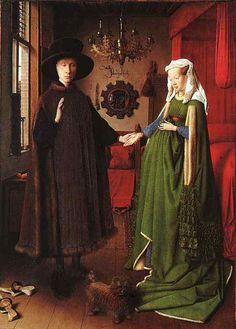 Autor? Jan Van Eyck Nacionalidad del autor? Flamenco Dónde podemos ver esta obra? The National Gallery, Londres Tipo de pintura? Oleo sobre tabla Nupcias y Matrimonio en la Edad Media Una boda sie…
