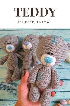 Teddy bear, Bear baby toy, Crochet bear, Baby toys handmade, Soft animal toys, Toys for babies, Teddy bears soft, Stuffed animals, Soft toy
