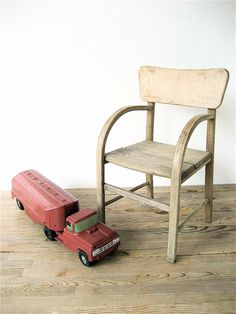 Vintage Wooden Child's Chair by lovintagefinds on Etsy, $39.00