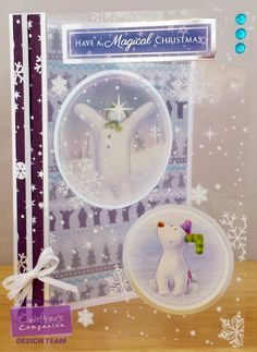 Crafters Companion Snowman & Snowdog Papercraftting Kit Party Paws printed Acetate