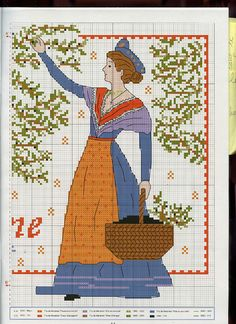 love this lady.  is she picking olives?