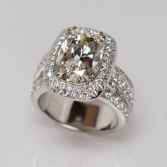 Cushion Cut Diamond Ring from Oliver Smith Jeweler.