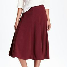 Old Navy High Rise Midi Skirt Size 6 New with tags! Color Marion Berry.  ***Price Firm! Old Navy Skirts Midi