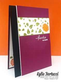 Stampin' Up! Perpetual Birthday Calendar, Kylie, Fall Cards, Thank You Cards, Stampin Up, Card Ideas, Grateful, Thankful, Card Making