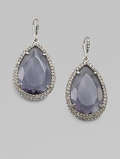 ABS by Allen Schwartz Jewelry Faceted Teardrop Earring