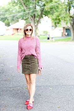 Olive Pink | The Knotted Chain Mini Skirts, Chain, Pink, Fashion, Moda, Fashion Styles, Mini Skirt, Pink Hair, Fashion Illustrations