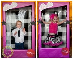 "I adore this idea! A Barbie box photo booth! Check out this lady's ""barbie"" themed kids party! What a cute idea! Barbie Theme Party, Barbie Birthday Party, Birthday Party Themes, Birthday Ideas, Themed Parties, Birthday Bash, Barbie Box, Bday Girl, Halloween Disfraces"
