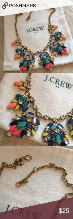 J crew bright and festive statement necklace Bright ! Colorful! Festival! J crew statement necklace J. Crew Jewelry Necklaces