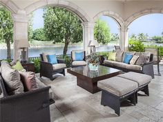 Outdoor living on the lanai in Naples