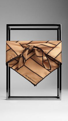 Heritage Buckle Silk Square | Burberry