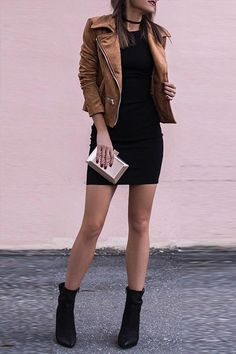 How to Wear: The Best Casual Outfit Ideas - Fashion Black Bodycon Dress Outfit, Bodycon Outfits, Best Casual Outfits, Chic Outfits, Fashion Outfits, Fashion Ideas, Trendy Dresses, Casual Dresses, Look Fashion