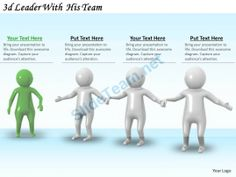 3D Leader with His Team Ppt Graphics Icons Powerpoint #Powerpoint #Templates #Infographics