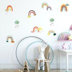 Minimalist Home Deco Kids Wall Decals, Removable Wall Decals, Wall Decal Sticker, Wall Stickers, Rainbow Nursery, Cushions, Pillows, Minimalist Home, Scandinavian Style