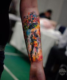 Painterly style forearm - 110 Awesome Forearm Tattoos