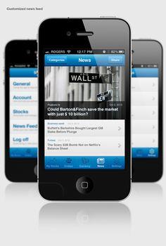 Croatian Market Portfolio iPhone App by Krešimir Kraljević, via Behance