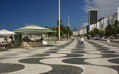Calçadão da praia de Copacabana - Rio de Janeiro
