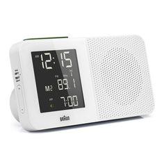 Braun BNC010WH-RC Digital Alarm Clock Radio White