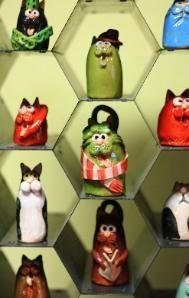 Ceramic Cats by Suzi