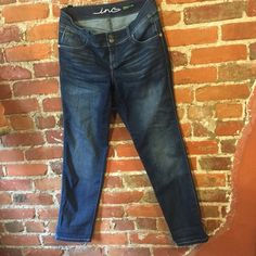 """INC straight leg curvy fit sz 10 Jeans Brand: INC Type: Straight Leg Curvy Fit Size: 10 Fabric: 55% cotton 22% polyester 22% rayon 1% spandex Condition: Excellent used condition Color: blue Measurements: Waist – 17"""" across the front, lying flat. Inseam - 31"""". ⬆ ️Measurements & info ⬆️ ✅ YES - Offers, bundles, questions ✅  NO - Trades, holds, PP  ⭐️ All items are authentic ⭐️  20% off bundles  INC International Concepts Jeans Straight Leg"""