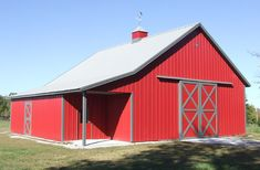 Visit the Lester Buildings Project Library for pole barn pictures, ideas, designs, floor plans and layouts. Pole Barn Garage, Pole Barns, Hobby Shops Near Me, Shop Buildings, New Farm, Building Systems, Granny Flat, Garage Workshop, Spare Room