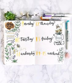 Love this bullet journal spread!
