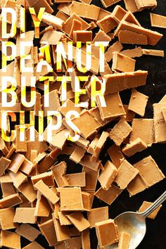 DIY Peanut Butter Chips - 4 Ingredients, keep in the freezer for months, great for baking