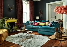 Teal corner sofa uk: 11 super chic velvet sofas for those who hate color. Corner Sofa Uk, Corner Sofa Living Room, Living Room Furniture, Living Room Decor, Bedroom Decor, Master Bedroom, Living Rooms, Furniture Makers, Home Decor