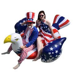 Colonel Pickles Novelties Giant Inflatable American Bald Eagle – Premium Patriotic Pool Floats Rafts Inflatable Pool Toys, Giant Inflatable, Swimming Pool Toys, Kid Pool, Pool Fun, Pool Floats For Kids, Pool Lounge Float, Swan Float, Pool Rafts