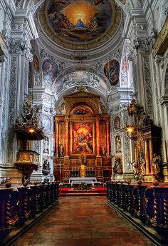 Architecture Artists, Cathedral Architecture, Sacred Architecture, Religious Architecture, Beautiful Architecture, Catholic Art, Religious Art, Europe Centrale, Church Pictures