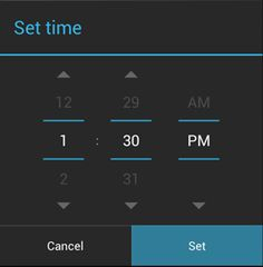 Setting Alarms in Android
