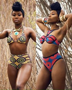 2a7529267b19a African Print Bikini Set Swimwear Black   S Swimsuit. See more. Tweets de  Media par African Fashion ( AfricanFashion )