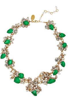 Erickson Beamon | White Wedding gold-plated Swarovski crystal necklace | NET-A-PORTER.COM