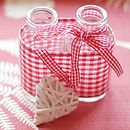 Glass Milk Bottles With Heart Decoration