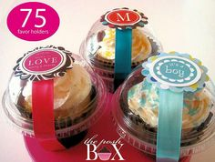 Clear Cupcake Boxes package of 75 Perfect for by PoshBoxCouture, $37.50