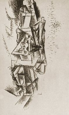 """Pablo Picasso - """"Man with Guitar"""", 1911"""