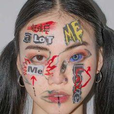 Disposable Face Mask with Earloop, Breathable and Comfortable for Personal Care Protection Masks) Makeup Inspo, Makeup Art, Makeup Inspiration, Beauty Makeup, Eye Makeup, Hair Makeup, Creepy Makeup, Aesthetic Makeup, Aesthetic Photo