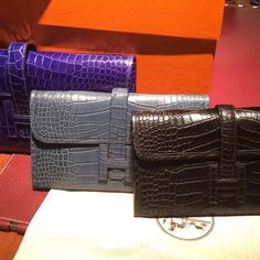 Hermes Croc Wallets! NEED THESE!!!